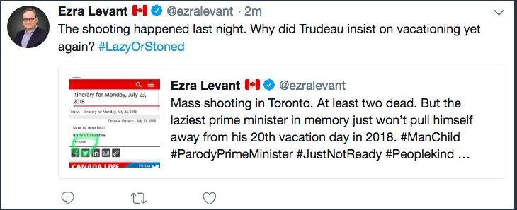 Ezra Levant Danforth Shooting Trudeau