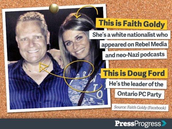 Faith Goldy Doug Ford PressProgress