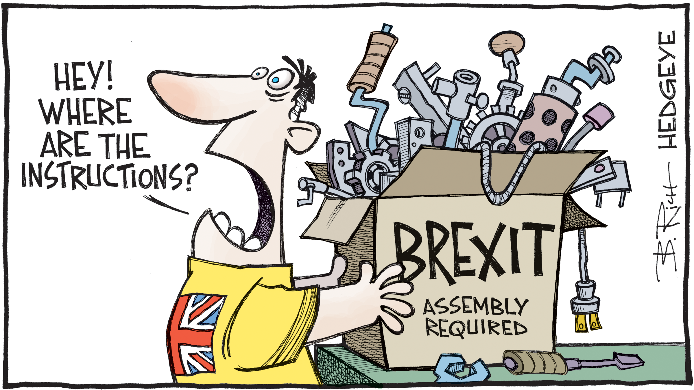Brexit Instructions Cartoon