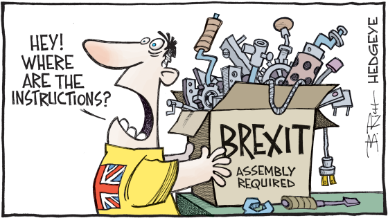 Brexit Instructions Cartoon
